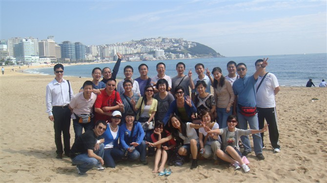 员工韩国旅游-海云台